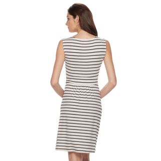 Women's Dana Buchman Shirred Fit & Flare Dress