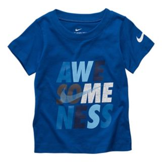 "Baby Boy Nike ""Awe-Some-Ness"" Graphic Tee"