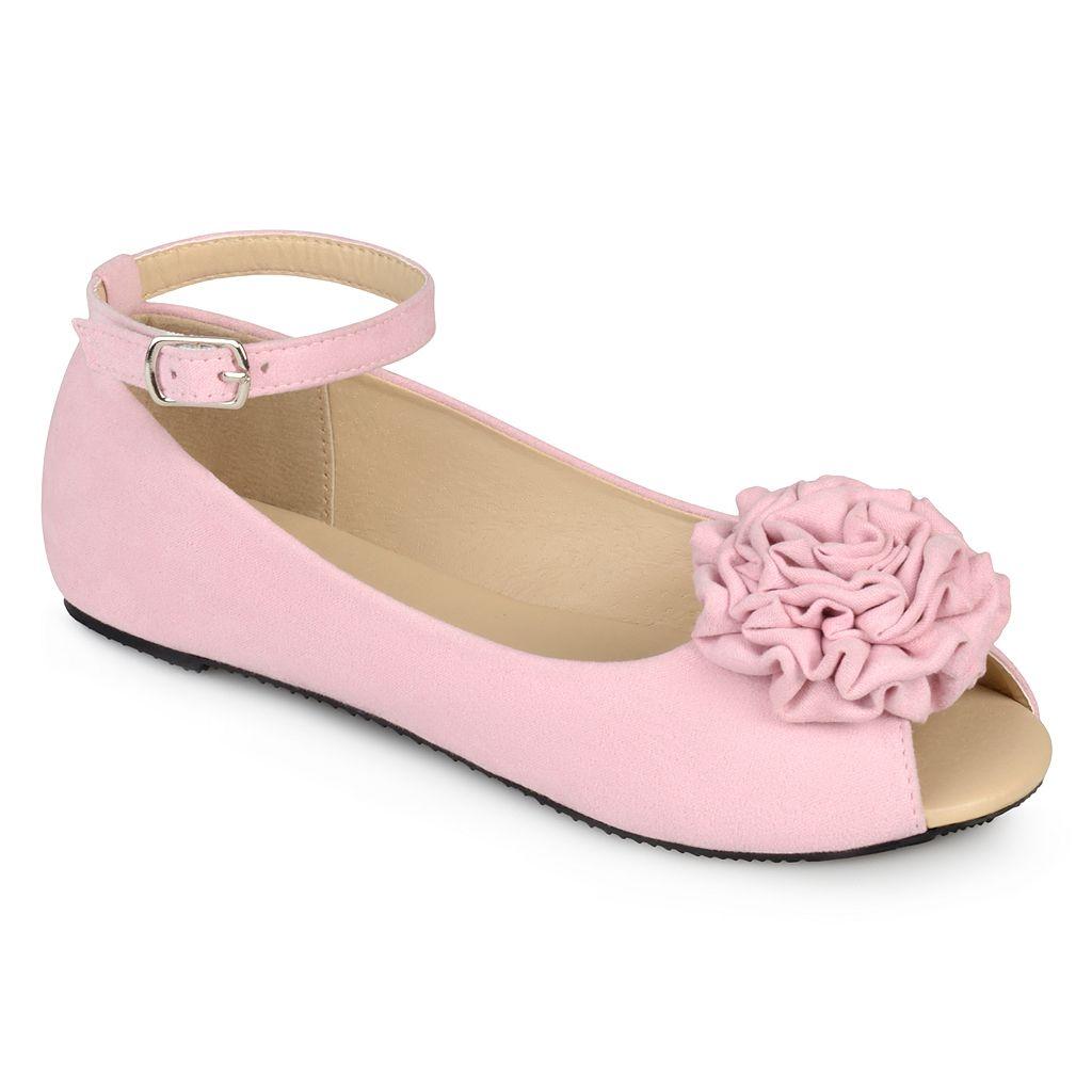 Journee Fleur Girls' Ankle Strap Flats