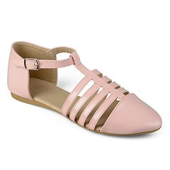 Journee Silvie Girls' Strappy Flats
