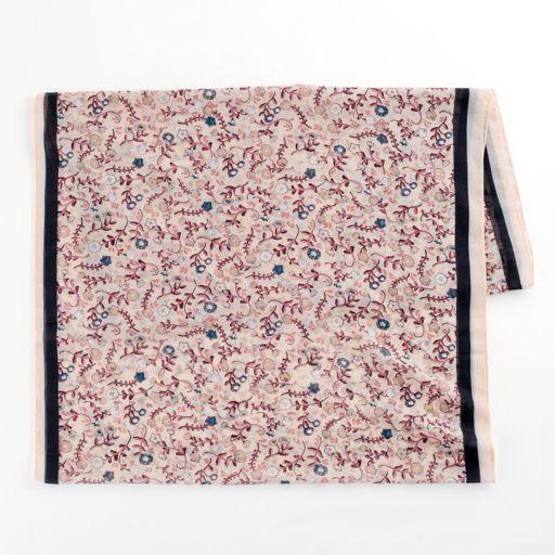 LC Lauren Conrad Floral Infinity Scarf