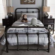 Baxton Studio Mandy Vintage Industrial Platform Bed