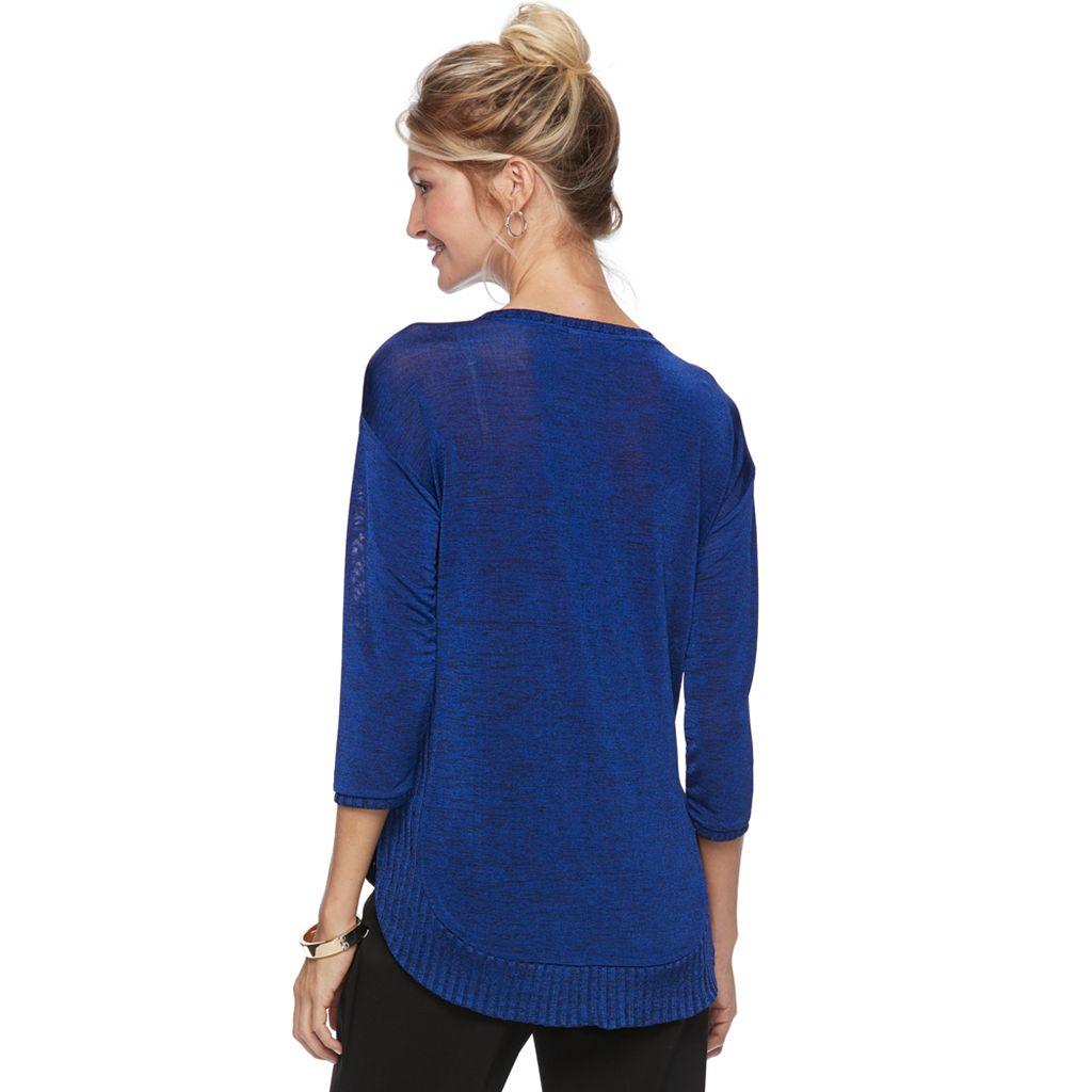 Women's Dana Buchman Marled Ribbed Sweater
