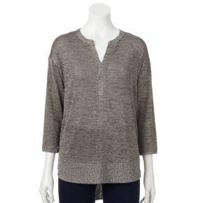 Women's Dana Buchman Marled Splitneck Sweater