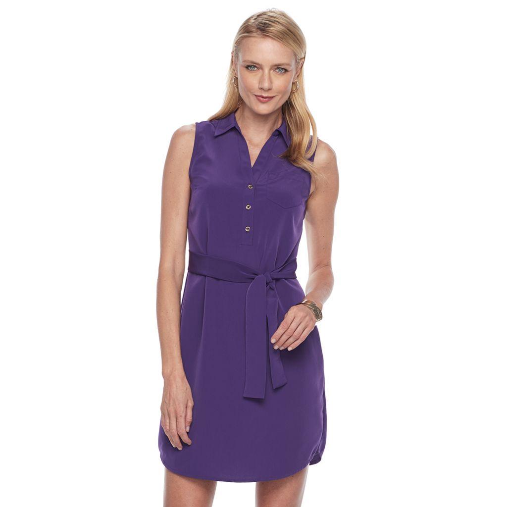 Women's Dana Buchman Sleeveless Shirt Dress