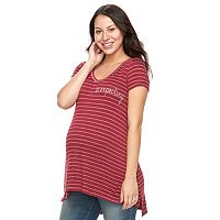 Maternity a:glow Graphic Tunic Tee