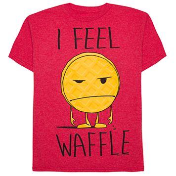 Boys 8-20 I Feel Waffle Tee
