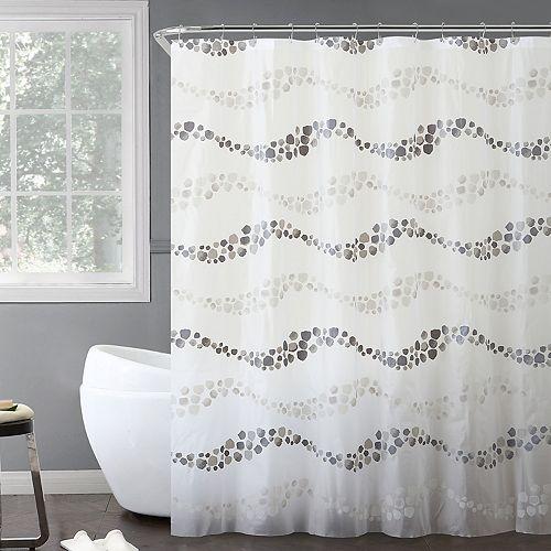 VCNY 14-piece Gray Dot Wave Bath Set