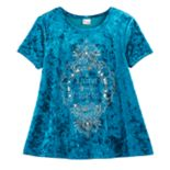 Girls 7-16 & Plus Size Mudd® Foil Print Velvet Swing Tee