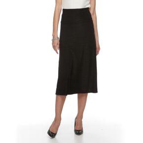 Women's Dana Buchman Fold-Over Waistband Midi Skirt