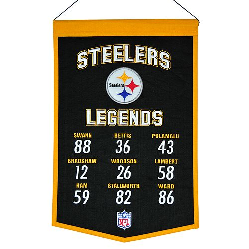 Winning Streak Pittsburgh Steelers Legends Banner