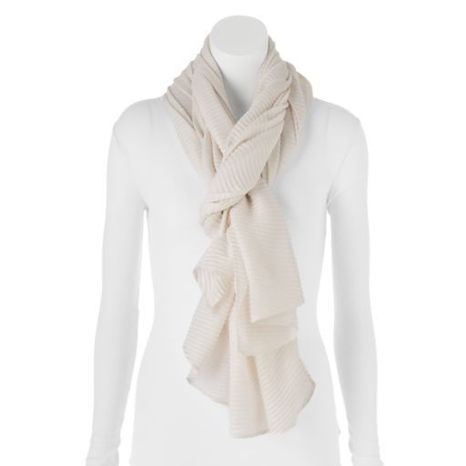 Apt. 9® Solid Pleated Oblong Scarf