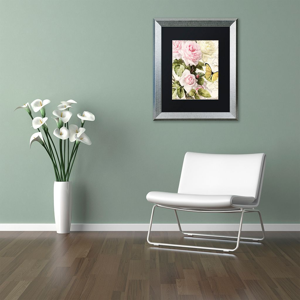 Trademark Fine Art Flora Bella Silver Finish Framed Wall Art
