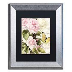 Trademark Fine Art Flora Bella Silver Finish Framed Wall Art