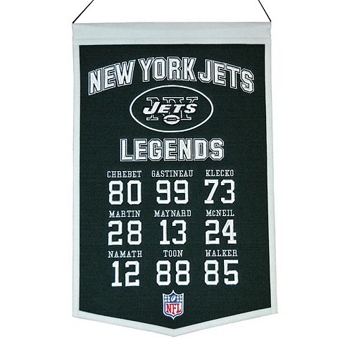 Winning Streak New York Jets Legends Banner