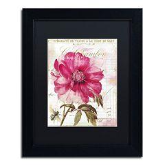 Trademark Fine Art Lepink With Bee Black Framed Wall Art