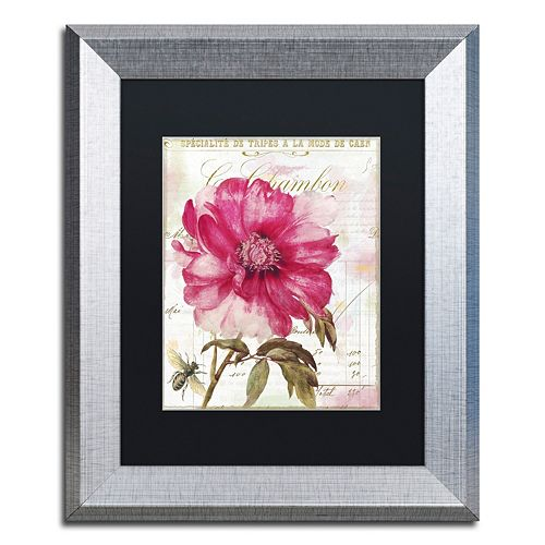 Trademark Fine Art Lepink With Bee Silver Finish Framed Wall Art