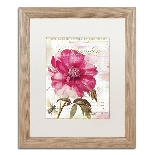 Trademark Fine Art Lepink With Bee Distressed Framed Wall Art