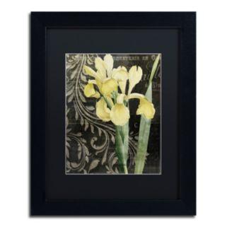 Trademark Fine Art Ode To Yellow Black Framed Wall Art