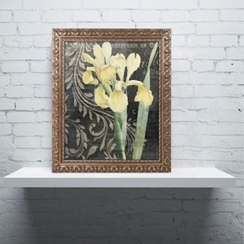 Trademark Fine Art Ode To Yellow Ornate Framed Wall Art