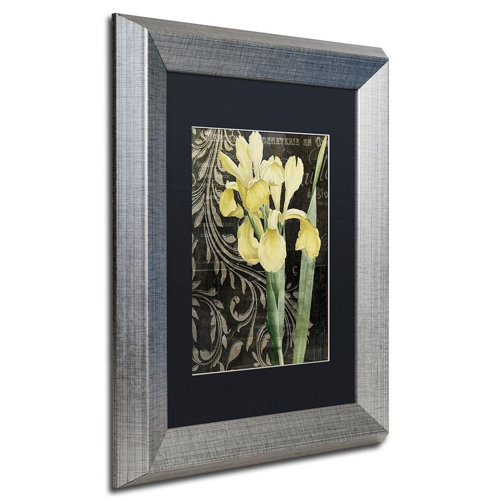Trademark Fine Art Ode To Yellow Silver Finish Framed Wall Art
