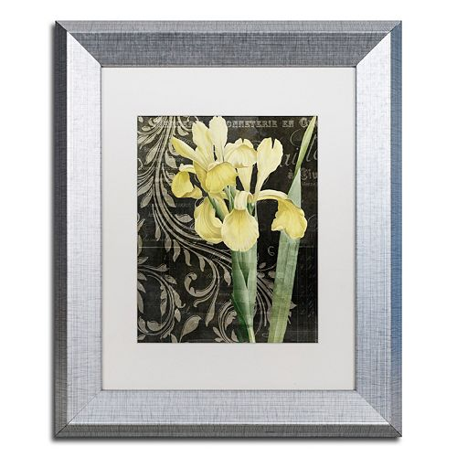 Trademark Fine Art Ode To Yellow Silver Finish Framed Wall Art