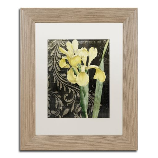 Trademark Fine Art Ode To Yellow Distressed Framed Wall Art
