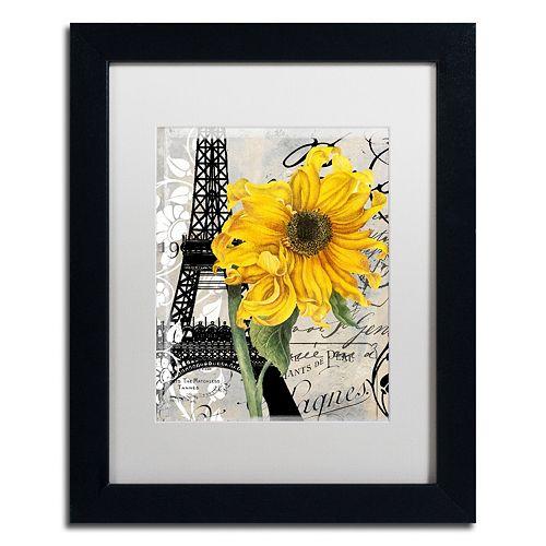 Trademark Fine Art Paris Blanc Black Framed Wall Art