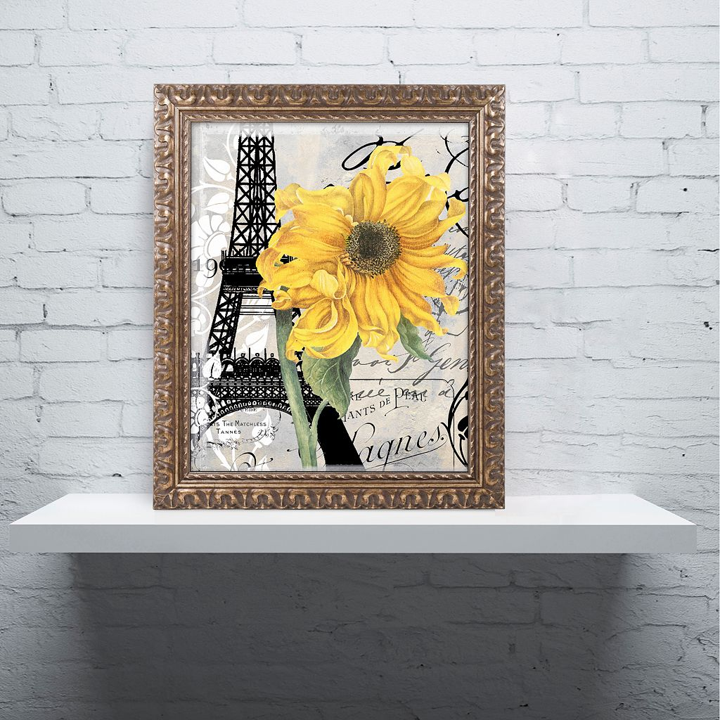 Trademark Fine Art Paris Blanc Ornate Framed Wall Art