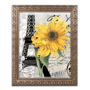 Trademark Fine Art Paris Blanc Ornate Framed Wall Art