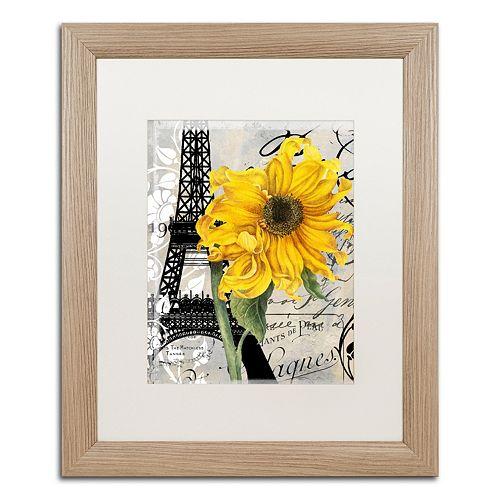 Trademark Fine Art Paris Blanc Distressed Framed Wall Art