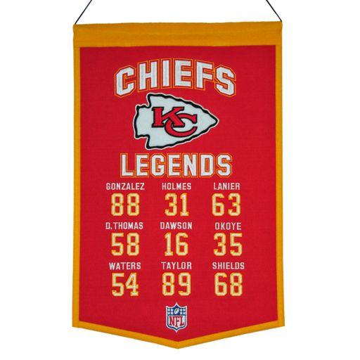 Winning Streak Kansas City Chiefs Legends Banner