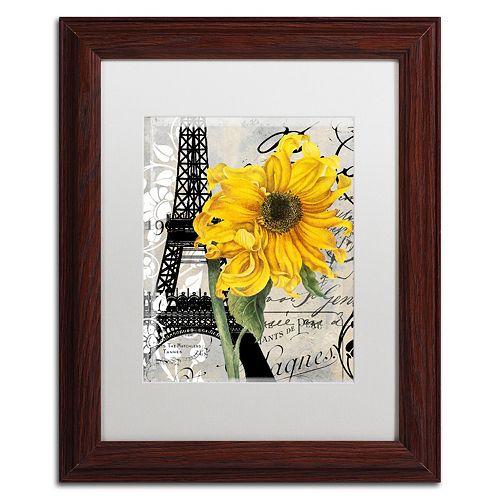 Trademark Fine Art Paris Blanc Framed Wall Art