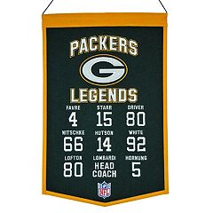 Winning Streak Green Bay Packers Legends Banner