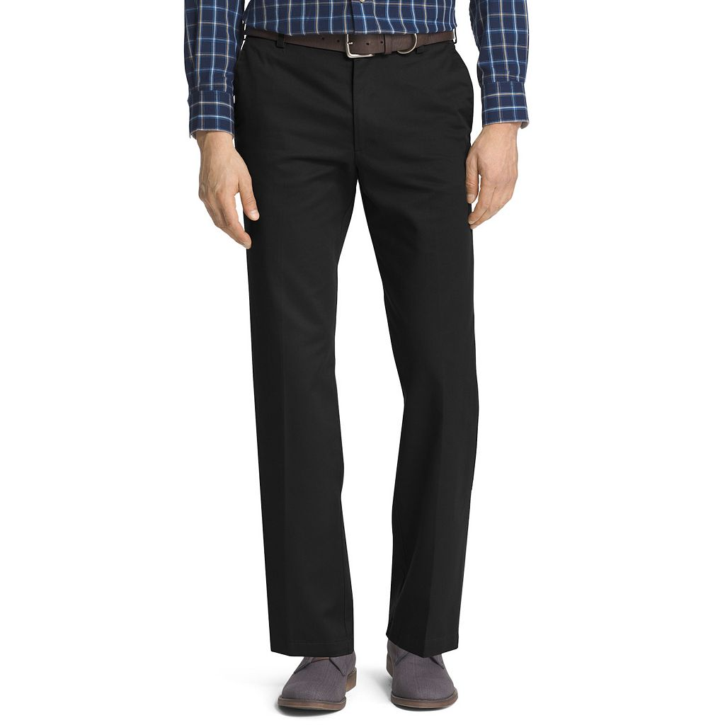 Men's IZOD American Chino Straight-Fit Wrinkle-Free Flat-Front Pants