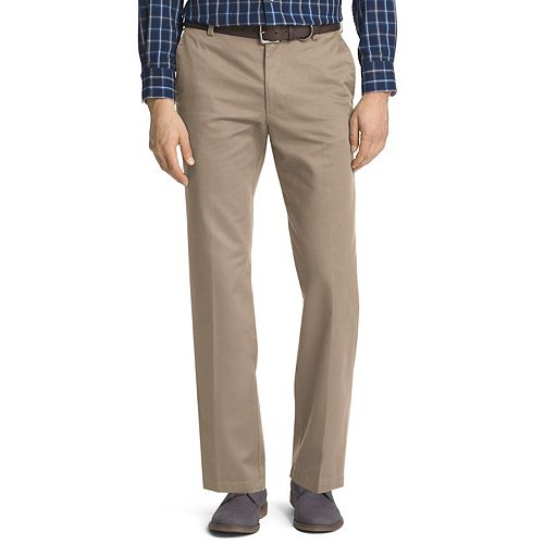 NEW MENS IZOD  AMERICAN CHINO NAVY BLUE CLASSIC FLAT FRONT STRAIGHT 32 34 36 40