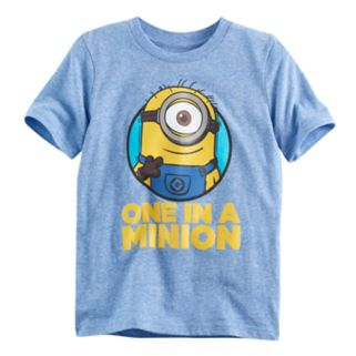 "Boys 4-10 Jumping Beans® Minions ""One in a Minion"" Heathered Graphic Tee"