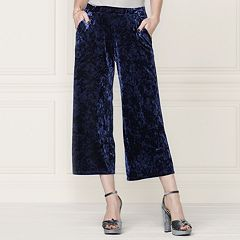 LC Lauren Conrad Runway Collection Wide-Leg Crop Velvet Pants - Women's