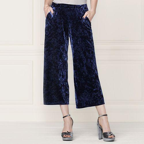 a4d8abceb7a1 LC Lauren Conrad Runway Collection Wide-Leg Crop Velvet Pants - Women s