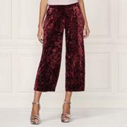 LC Lauren Conrad Runway Collection Wide-Leg Crop Velvet Pants - Women's