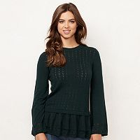 Women's LC Lauren Conrad Pointelle Babydoll Sweater