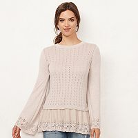 Women's LC Lauren Conrad Pointell Babydoll Sweater
