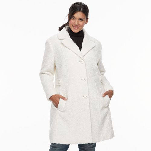 Plus Size Gallery Wool Blend Coat