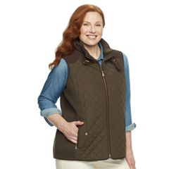 Plus Size Gallery Quilted Ribbed Vest