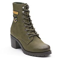 madden NYC Klarra Patch Women's Combat Boots