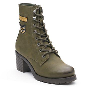 madden NYC Klarra Patch Women's Combat Boots