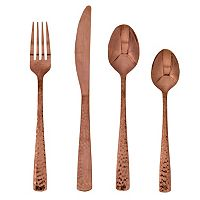 Food Network™ Martilla Hammered Copper 16 pc Flatware Set