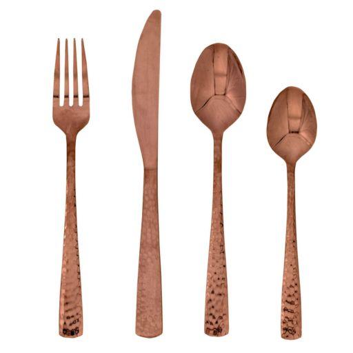 Food Network™ Martilla Hammered Copper 16-pc. Flatware Set