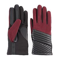 Women's Isotoner Diagonal Stitched Tech Gloves