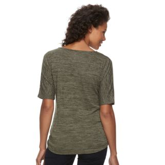 Women's Croft & Barrow® Rouched Dolman Tee